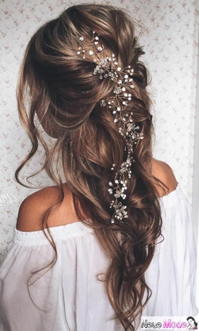 Halboffene Frisur Neue Halboffene Frisuren 2019 Abiball Frisuren Halboffen Brautfrisur Halboffen Fest Long Hair Styles Hair Vine Wedding Loose Hairstyles