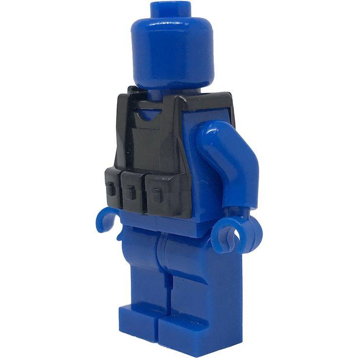 Brick Minifigure Black Tactical Vest 1