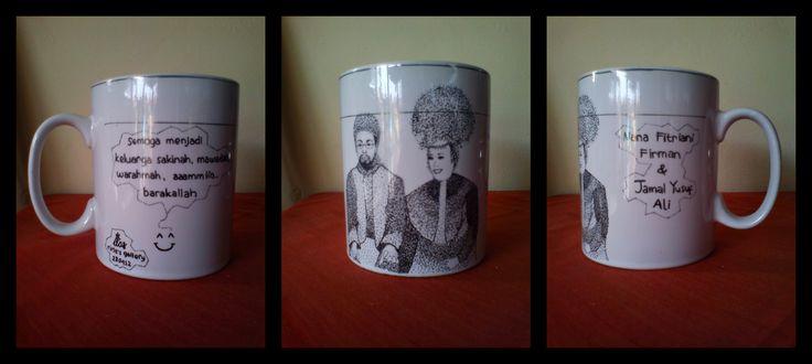 pointilis painting mug ~ go to #Amerika