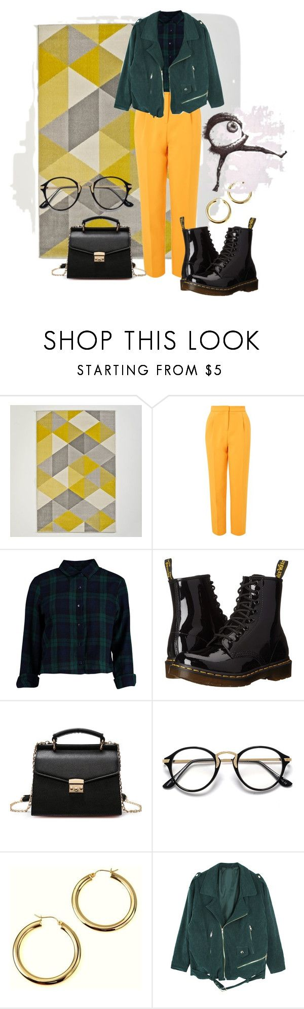 """bright pants"" by nover on Polyvore featuring Topshop, Boohoo and Dr. Martens"