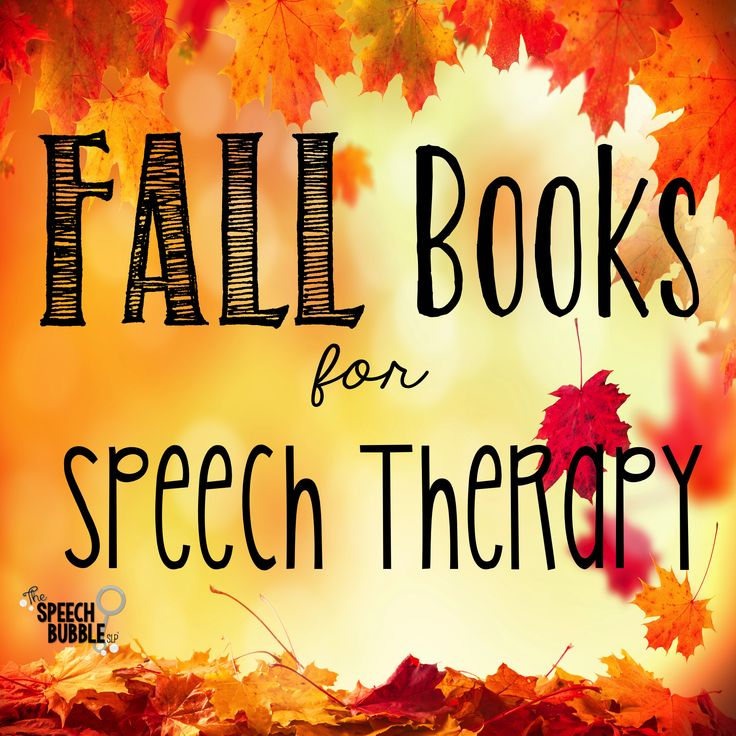 FAll books for speech therapy Repinned by SOS Inc. Resources pinterest.com/sostherapy/.