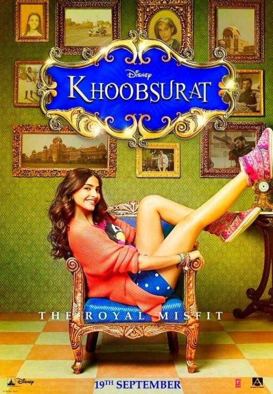 Sonam Kapoor on Khoobsurat poster.