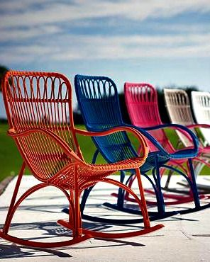Chair-like comfort that rocks -- you'll find the best of both worlds in our Felicity Outdoor Rocking Chair.