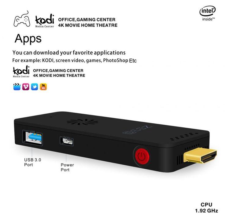 Stick TV Z83S Mini PC (Intel Atom X5-Z8350 Windows 10 KODI) à 68 Bonjour  Excellent bon plan sur ce Stick TV Windows 10 qui est proposé à 68 au lieu de 83 via un code promo.  Stick TV Z83S Mini PC à 68  Code promo :GBZ83S  Spécifications :  Mini PC Z83S  CPU: Intel Atom X5-Z8350 Quad Core  GPU: Intel HD Graphics 400  System: Windows 10 64Bits  2GB de RAMDDR3  Stockage:32G  Support disque externe maximum: 128GB  WIFI A/B/G/N Bluetooth  HDMI Version: 1.4  Interface: DC 5VHDMIMicro SD Card…