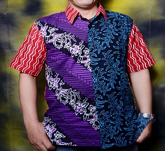 Another style to combine Batik for Stamp Batik