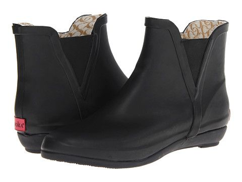 $70 Chooka V-Gore Wedge Bootie Black - Zappos.com Look like Loeffler Randal rain boots