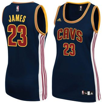 LeBron James Cleveland Cavaliers adidas Women's Replica Jersey - Navy Blue