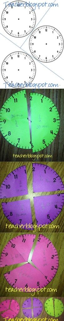 Awesome clock fractions lesson! Also explores how the size of the whole affects the size of the fraction!