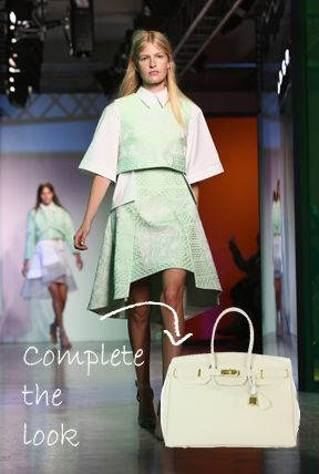 Rock the spring pastel colour of the season with this Cream Handbag!