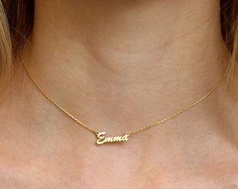 Aangepaste Choker ketting-goud naam Choker ketting-persoonlijk ketting-afstuderen Gift-bruidsmeisje Gift-naam plaat Choker - maat sieraden