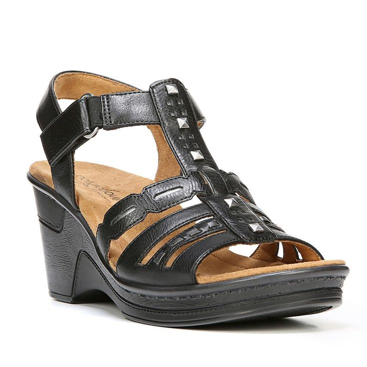 NaturalSoul by naturalizer Rory Women's Wedge Sandals, Size: medium (6.5), Oxford
