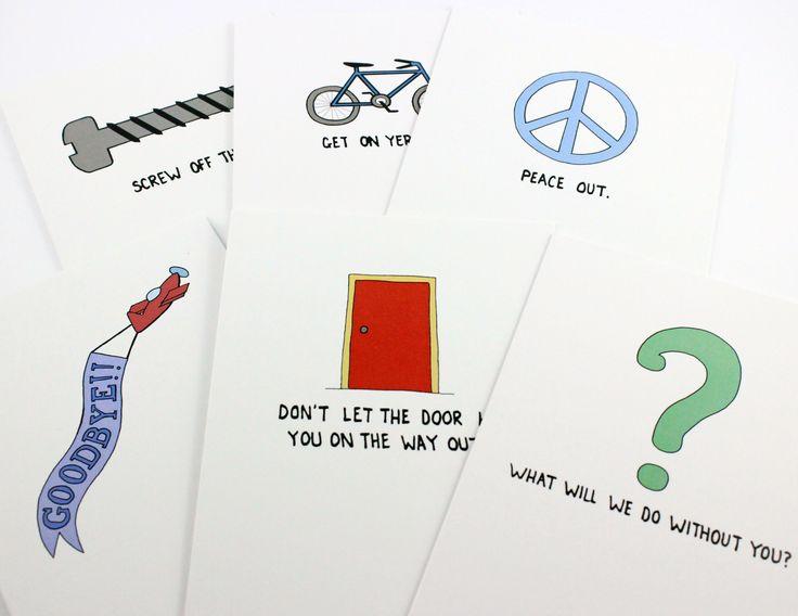 Farewell Cards Post Love Designs
