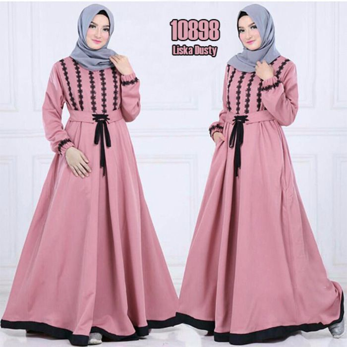 Model Baju Gamis Ibu2 Baju Muslim Model Baju Wanita Gaya Hijab