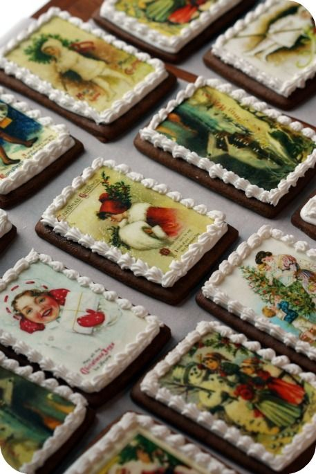 Oh Chrismas cookes , click on the photo to take you to the blog post to tell you how to do this..love it. Kn