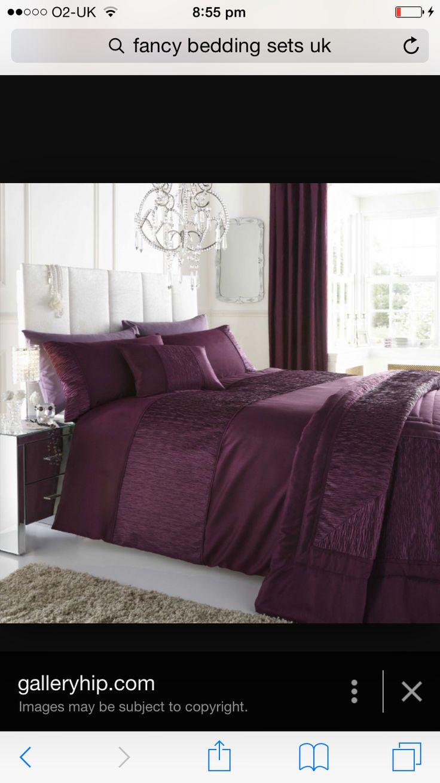 plum bed set