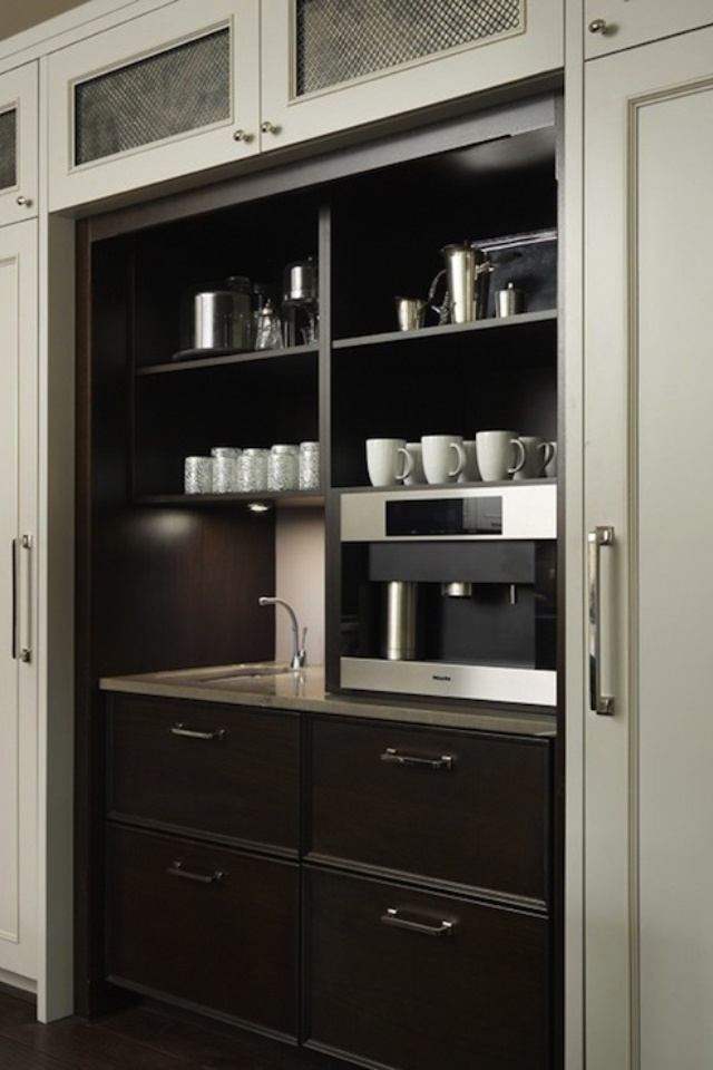 Butler Pantry With Coffee Bar Espresso Kitchen