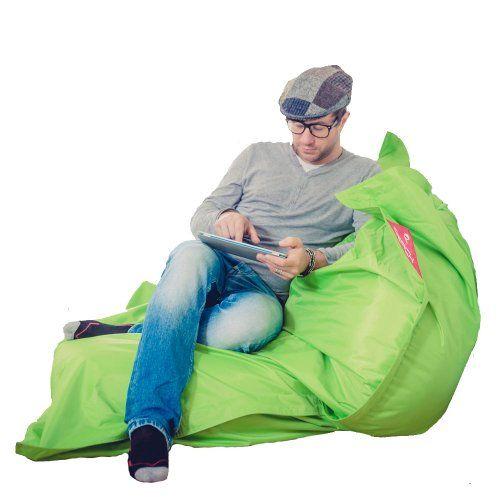 Lumaland Luxury Riesensitzsack XXL Sitzsack 380l Füllung 140 x 180 cm Indoor Outdoor verschiedene Farben Grün