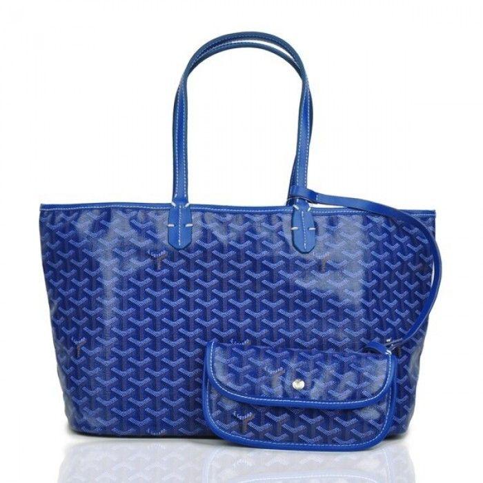 Goyard Saint Louis Tote Bag MM Dark Blue [Goyard-0550] - $149.00 if you like please follow my pin i will refollow you