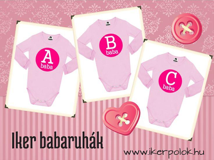 A baba, B baba, C baba, iker ruhák hármas ikreknek www.ikerpolok.hu