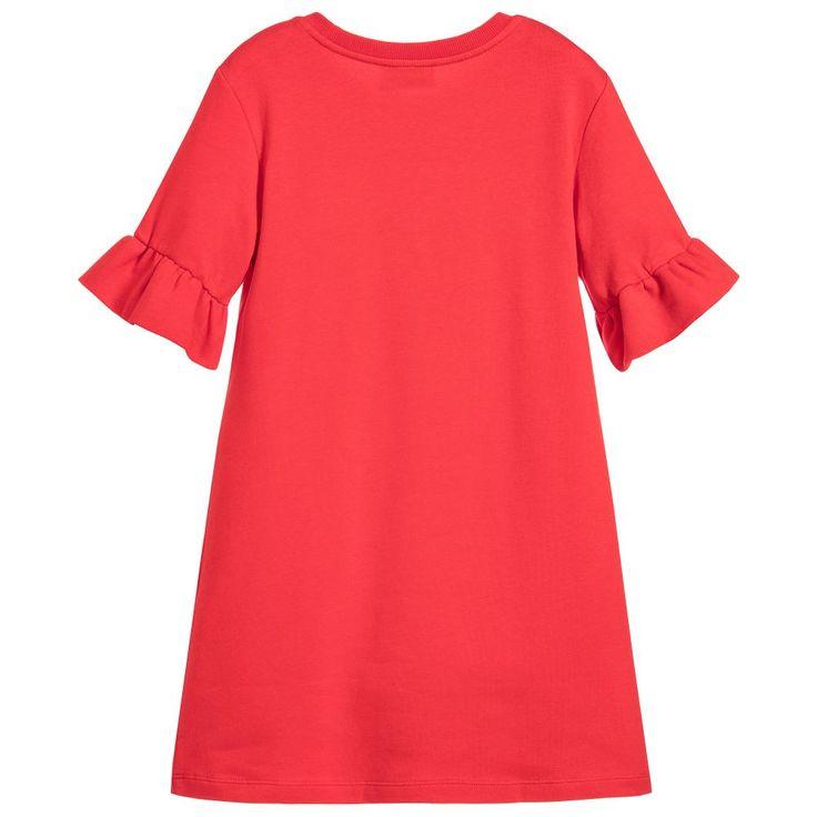 Moschino Kid-Teen - Girls Red Teddy Bear Dress | Childrensalon