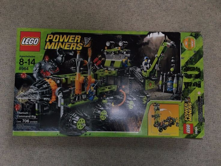 LEGO Power Miners Titanium Command Rig (8964) Complete with Instructions and Box