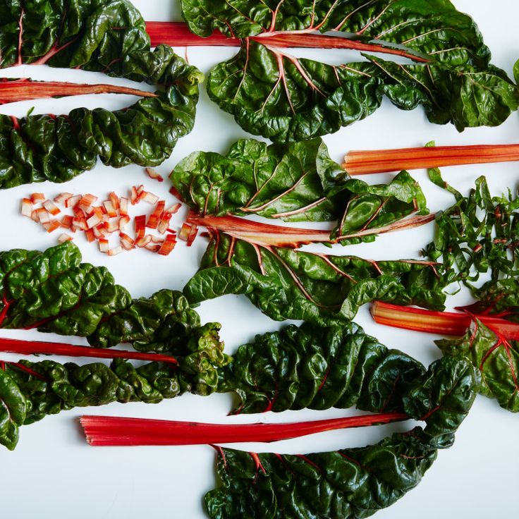 The stems from Swiss chard shouldn't be trashed; they add texture and a layer of flavor to any sauté.