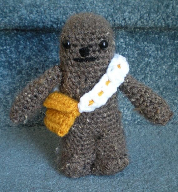 Amigurumi Doll Hands : Made to order, Hand crocheted Star Wars Chewbacca ...