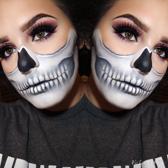 Scary Halloween Makeup Tutorial Step by Step – Skeleton