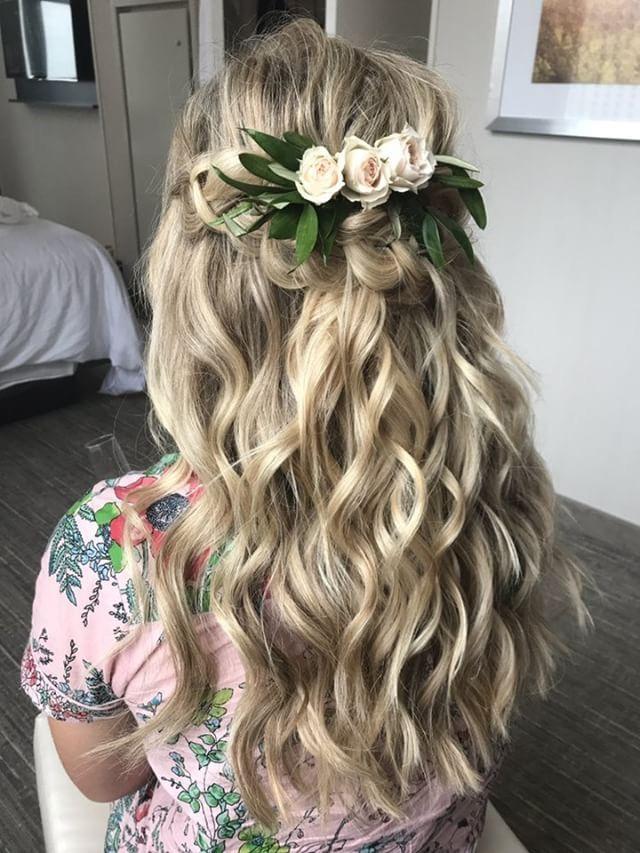 Wedding Hair, wedding hair down, garden party hair, flower comb, bohemian brides…