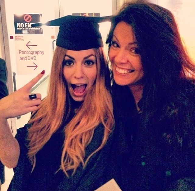 Gemma and Anne at Gemma's graduation!<< beautiful! Something about there family, all of em are just beautiful!!