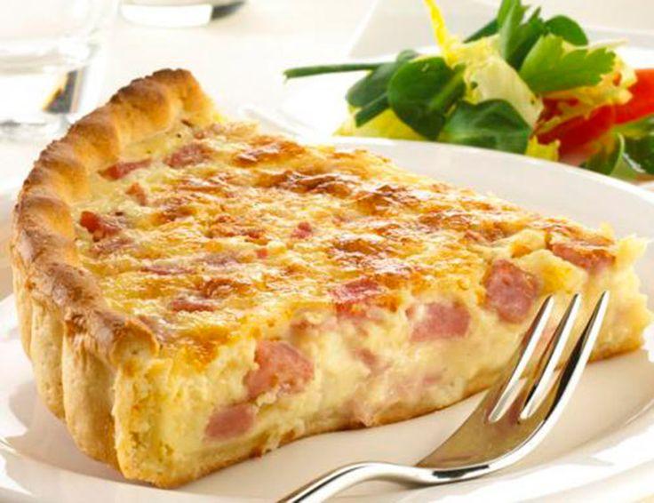 Quiche lorraine- TRES SABORES.- http://cocina-con-corazon.blogs.diezminutos.es/2013/01/14/quiche-lorraine-y-tres-sabores-mas/
