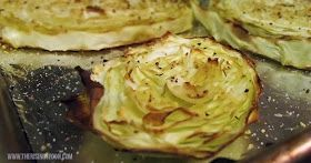 Roasted Cabbage Slices with Lemon, Garlic & Nutritional Yeast | www.therisingspoon.com