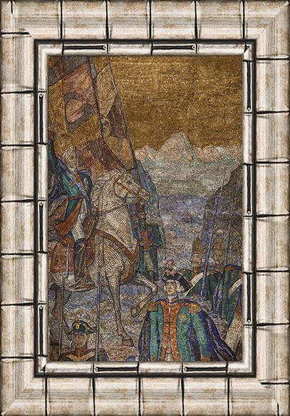 Мозаика «Альпийский поход Суворова». 1951. Смальта, мрамор, мозаика