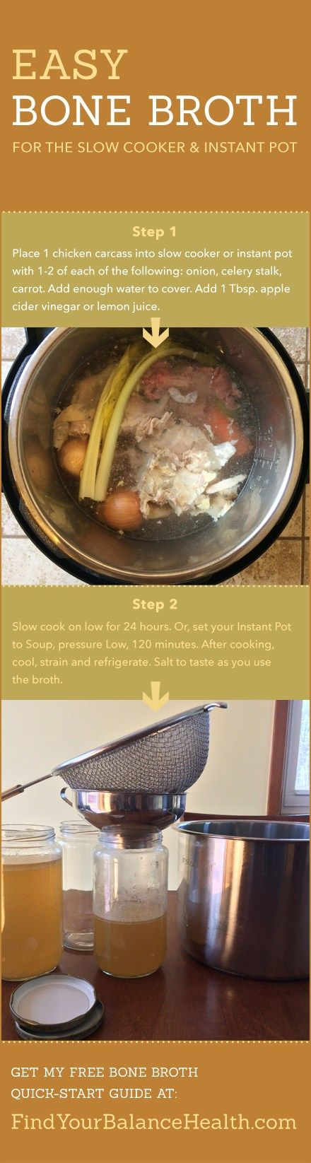 Bone Broth Benefits & Easy Recipe (Slow cooker or Instant Pot) http://ift.tt/2mLBOSI