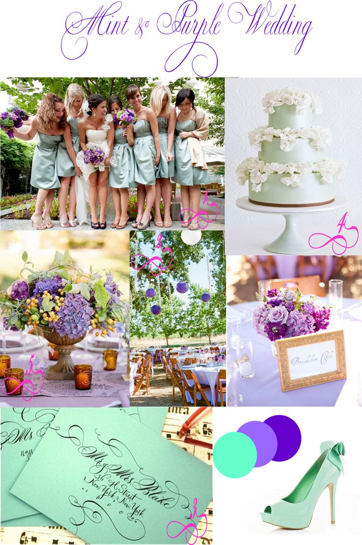 31 best Mint & purple wedding images on Pinterest | Weddings ...