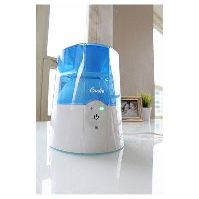 Crane 2-in-1 Warm Mist Humidifier & Steam Inhaler 0.5 Gallon - Blue & White