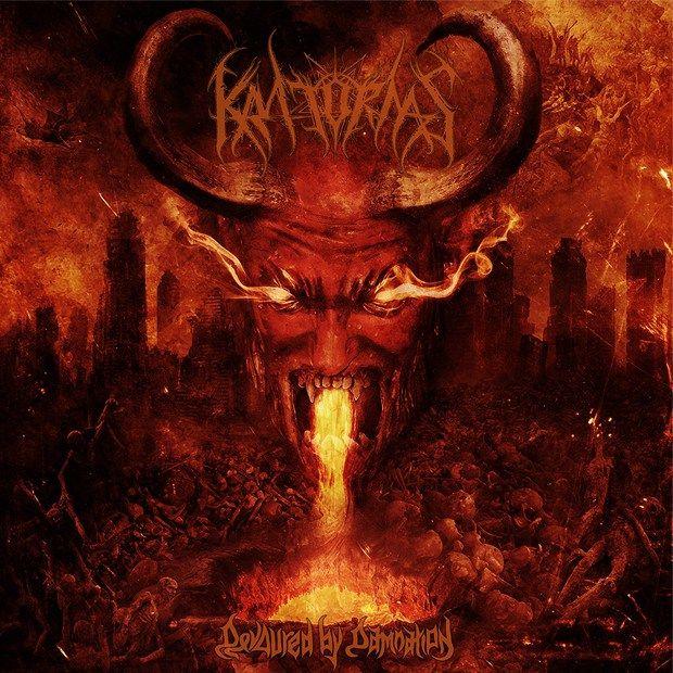 """O novo álbum da banda KRATORNAS, 'Devoured By Damnation', já está disponível. Sua música inspirada em Bathory, Deicide, Sadus, Terrorizer e Vader promete """"tratar os ouvintes como saco de panc…"""