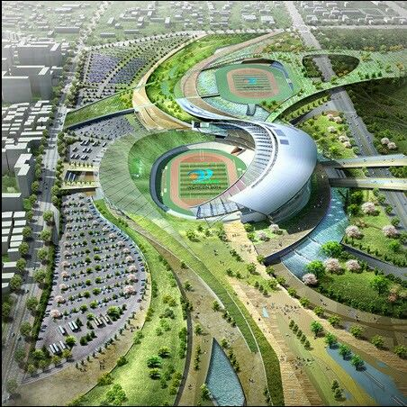 asian games stand design amazing photography incheon landscape design ...