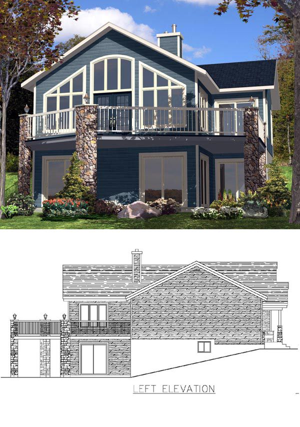 Hillside homeplan 48295 has 1128 square feet of living for Homeplan com