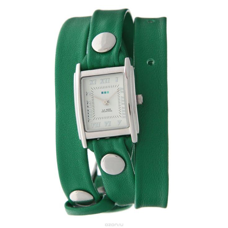 Часы наручные женские La Mer Collections Simple Kelly Green/Silver. LMSTW1012x