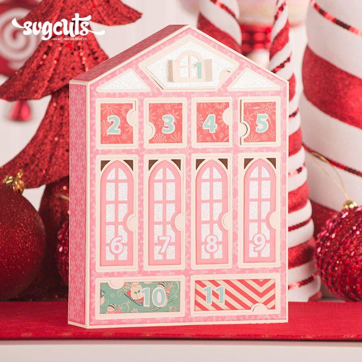Santa's Village Advent Calendar SVG Kit