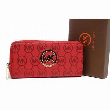 wholesale Michael Kors Wallet Zip Continental Leather Red (C) imgfave.com