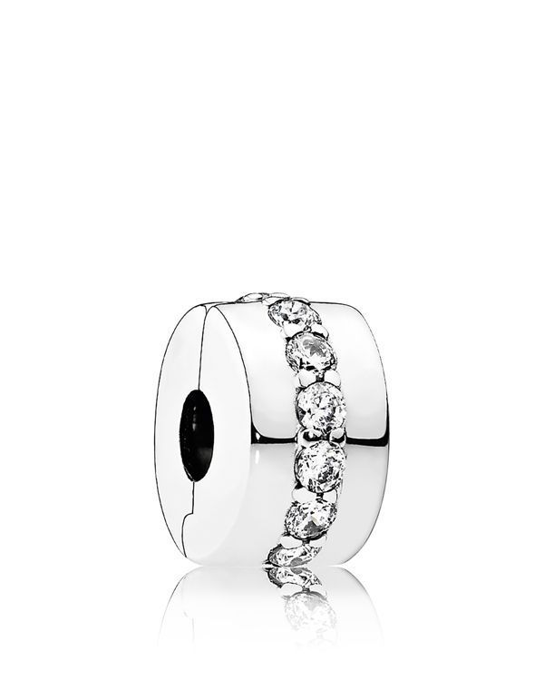 """Pandora Clip - Sterling Silver & Cubic Zirconia Shining Path, Moments Collection 