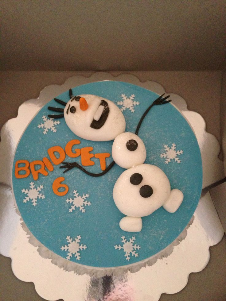 Olaf Birthday Cake Pan Party Invitations Ideas