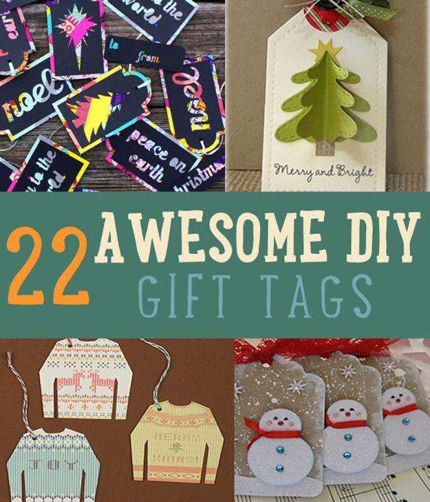 22 Awesome DIY Gift Tags   Christmas Gift Tags