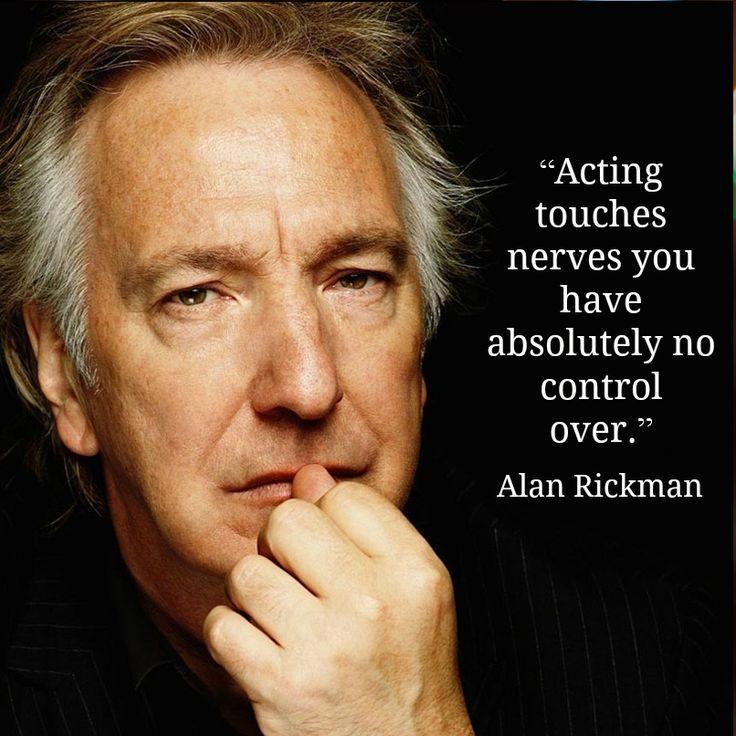 Alan Rickman - Movie Actor Quotes -  Film Actor Quote - #alanrickman