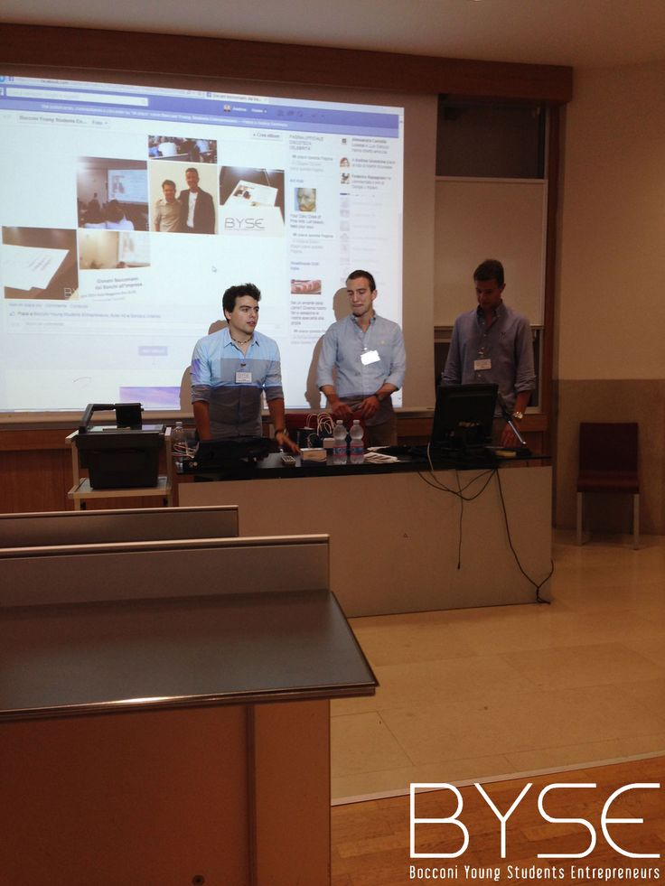 La presentazione di Byse durante la Business Competition realizzata nella Welcome Week 2014 per le Matricole