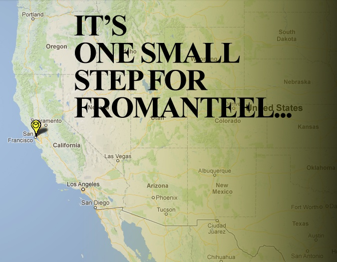 Fromanteel has achieved a new goal: our very first point of sale in the USA.
