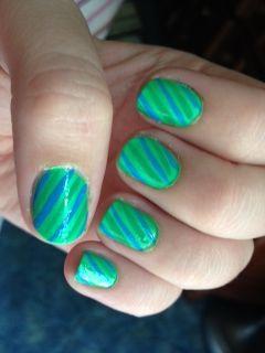 #Sephora #nailspottingGreen Stripes, Stripes Nails, Stripes Holiday