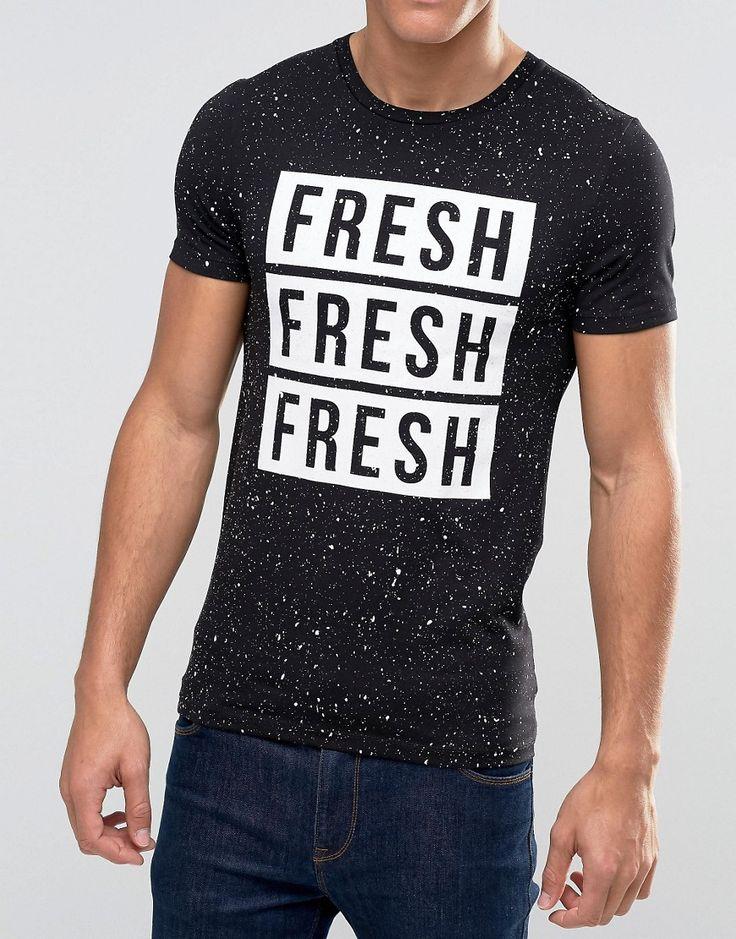 Imagen 3 de Camiseta ajustada con estampado Over Spray And Fresh de ASOS